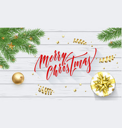 merry christmas holiday golden decoration vector image