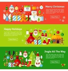 Merry Christmas Web Horizontal Banners vector image