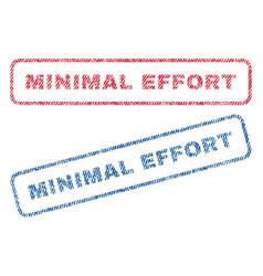 Minimal effort textile stamps vector