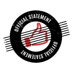Official Statement rubber stamp vector