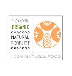 Organic food logo badge and label for healthy vector