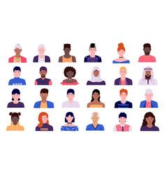 people avatars men and women cartoon character vector image