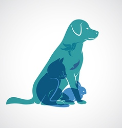 Pets group vector
