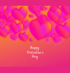 pink heart colorful neon figures falling vector image
