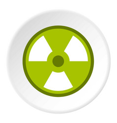 Radioactive sign icon circle vector