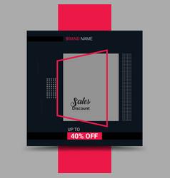 Sale banner social media post banner design vector
