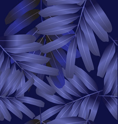 seamless foliage pattern2 vector image
