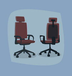 Set isolated office chairs in different angles vector
