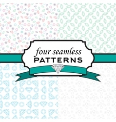 Set seamless pattern with different diamonds vector