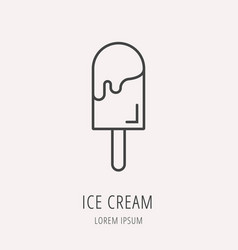 Simple logo template ice cream vector