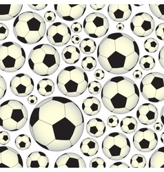 Soccer and football balls seamless pattern eps10 vector