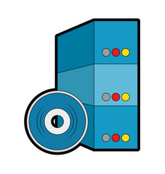 Software installation disk and box vector