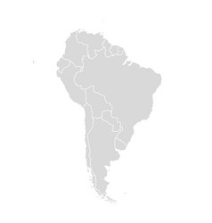 south america map latin america world vector image