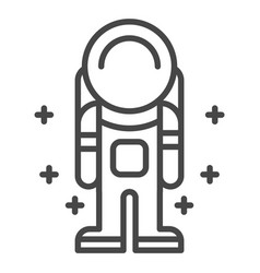 space man icon outline style vector image