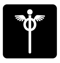 staff hermes icon vector image