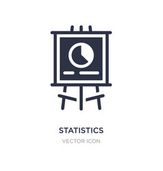 Statistics presentation icon on white background vector