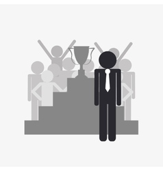 Succesful businessman icon vector