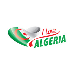 The national flag algeria and the vector