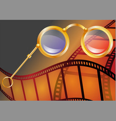 three-dimensional cinema vector image