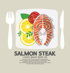Top View Of Salmon Steak vector image