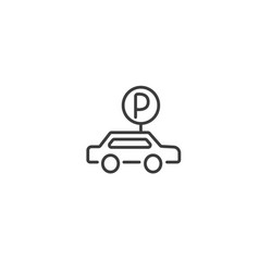 urban and city element icon - parking lot vector image