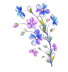 Vertical background with bright violet flowers vector image vector image
