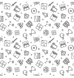 video games outline pattern game seamless vector image