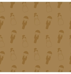 Vintage style wedding seamless pattern Wedding vector image