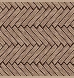 Wood herringbone floor tiles pattern seamless vector