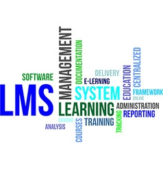 word cloud lms vector image vector image
