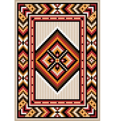 Asian design in the frame for carpet vector image vector image