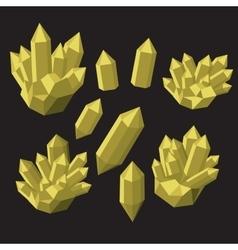 Colorful shiny bright crystals Polygon stone vector image