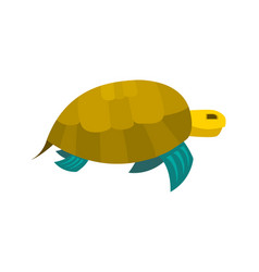 Cute turtle toy turtle icon vector