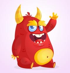 Happy cartoon monster cartoon vector image vector image
