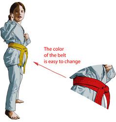 karate girl vector image vector image