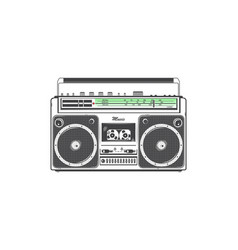retro ghetto blaster detailed elements old retro vector image