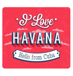 vintage greeting card from havana vector image vector image