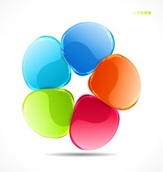Abstract flower vector image