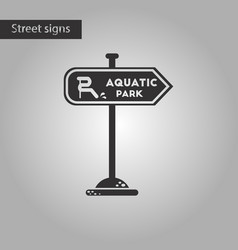 Black and white style icon sign aquatic park vector