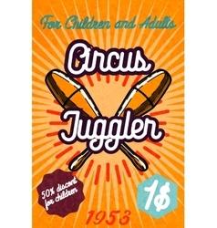 Cute circus card design vector image