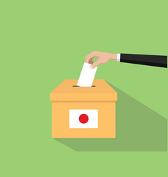 japan vote election concept with vector image vector image