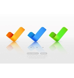 Yes check marks vector image vector image