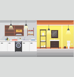 bathroom interior or architecture and furniture vector image
