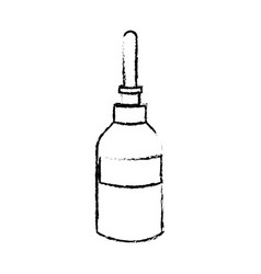 dropper bottle medical liquid care icon vector image