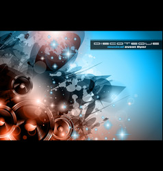 Music Club background for disco dance posters vector image vector image