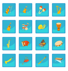 musical instruments icon blue app vector image