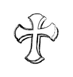 saint cross christianity vector image