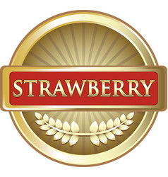 Strawberry gold icon vector