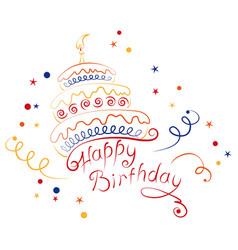 cake happy birthday vector image