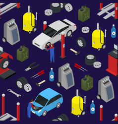 car auto service seamless pattern background on a vector image vector image